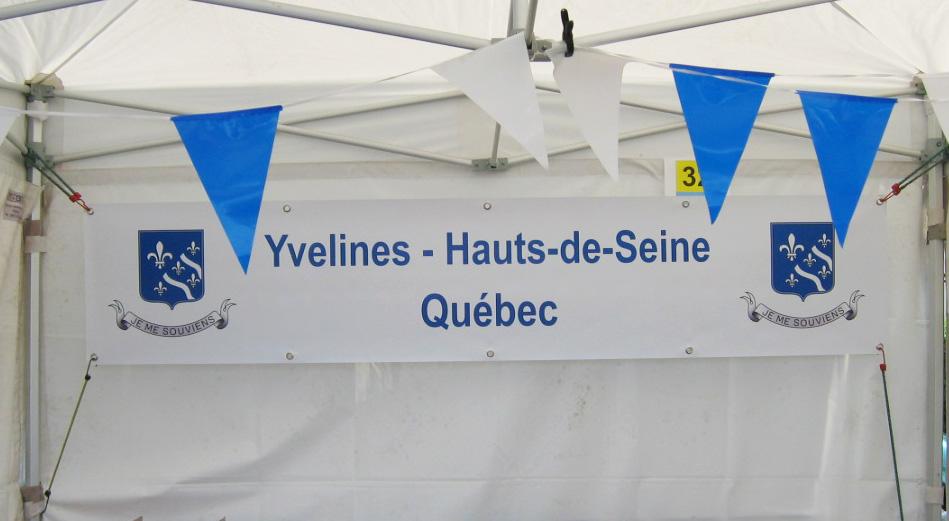 Association Yvelines Hauts-de-Seine Québec- Banderole - Référence - Nahécom
