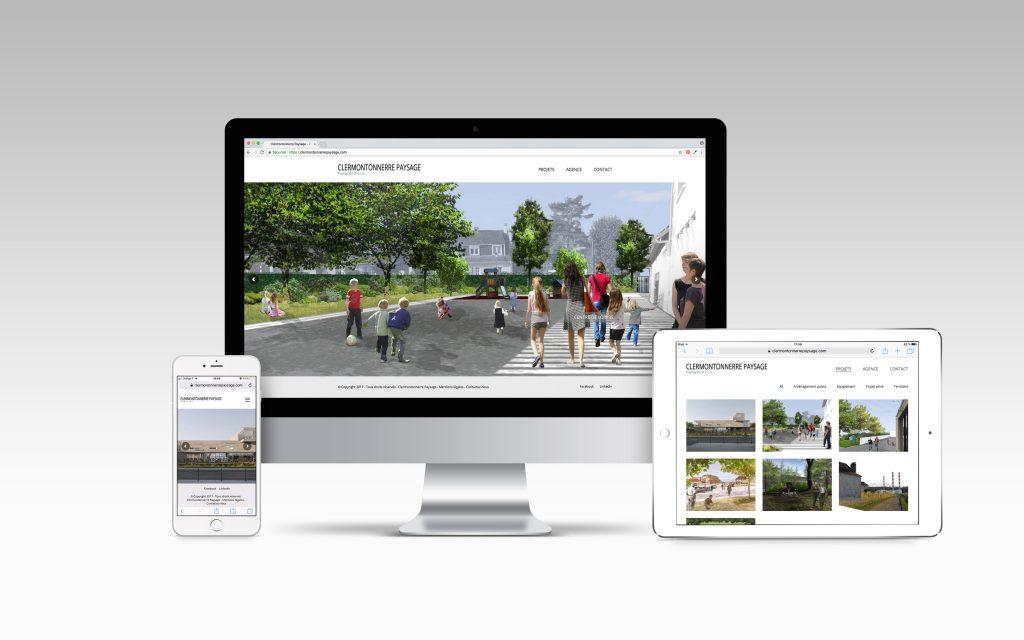 Création site responsive - Clermontonnerre Paysage - Nahécom