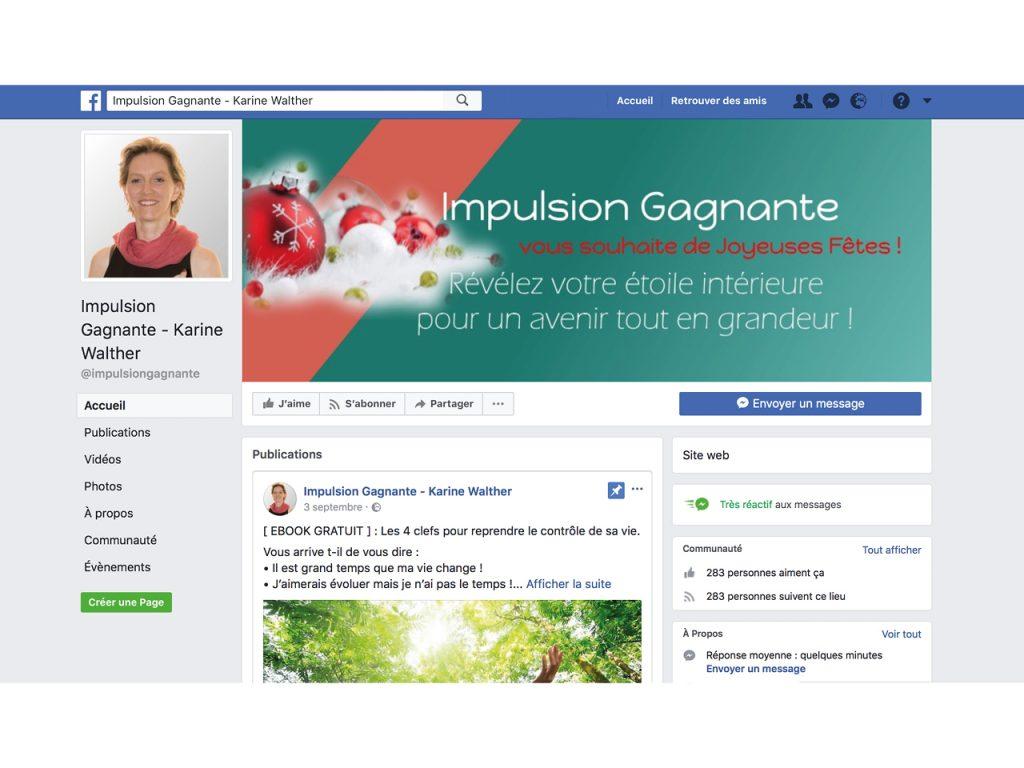 Social Média - Facebook - Impulsion Gagnante - Nahécom