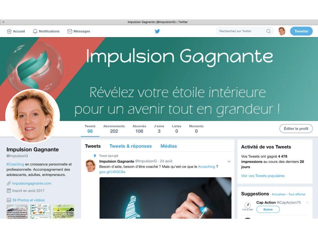 Social Média Twitter - Impulsion Gagnante - Nahécom