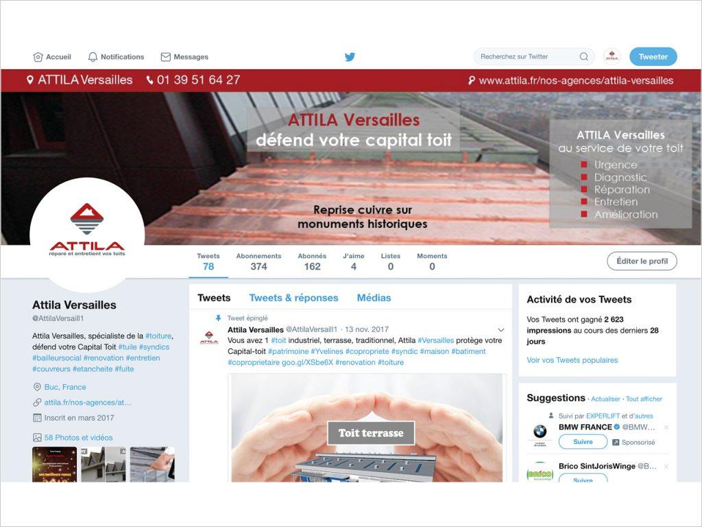 Social Media - Twitter - Attila Versailles - Nahécom