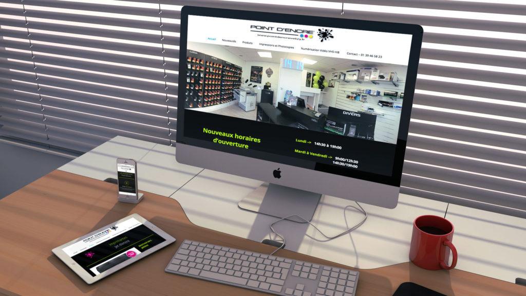 Références - Création site internet responsive - Point d'Encre Vélizy - Nahécom